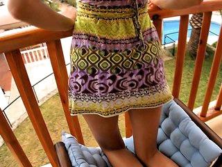 I don't know anything that could be compared with staring at cute playful teen women exposing some of not quite any intimate, sweetest spots of their bodies or having fine sex with their boyfriends! This time is not the exception and now I recommend u to see the beauty posing in her light sundress on balcony.