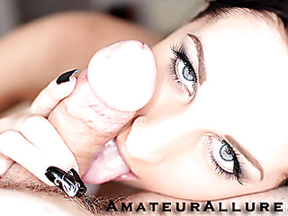 Racquel is a nice-looking Twenty year old black brown, with all natural melons and a small shaved cookie.  This Hottie is a total knob sucking freak, that can't appear to be to acquire sufficiently cum in her mouth. When u see what this babe does to my wang u will understand. That Hottie rode my dick like a pro and then I flipped her over and stretched her cookie good. We had a banging precious time and that babe swallowed a sticky load.