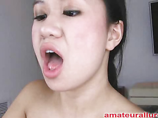 Carmina is an oriental wench without gag reflex. This Chick takes a dong all the way down her face aperture and holds it for a during the time that. Then Carmina acquires her hairless cum-hole screwed then the cock goes right back into her mouth. This Chick jerks off Thoma