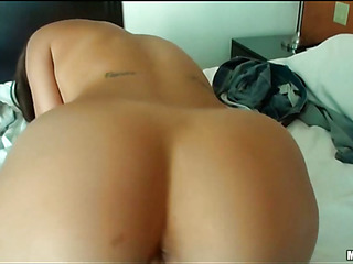 Girl with great forms of body is fond of banging in advance of webcam