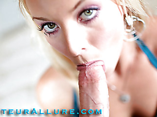 Shay can't live without to give head and that babe shows just how much when this babe bobs and mouths a large ding-dong aggressively while rubbing her bald snatch then this babe gets fucked real hard merely to have a huge load of cum discharged into her waiting mouth.