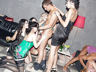 Those lecherous college hotties haven't had sex for a whilst, so they decided to get jointly for a steamy college sex party with fashionable guys. From the very start it's obvious that the party's intend to be a real blast! The excited students start with...