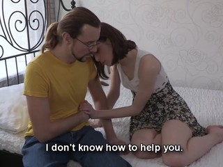 This nerdy dude can't satisfy his girlfriend both financially and sexually. However, there is one way to solve these problems at one time if that dude lets her rich Internet ally fuck her for money. That Fellow knows his chick craves a worthy fuck and a recent costume and even though watching her engulf and ride that stylish lad's ramrod makes him desperately jealous he stays throughout the entire action to be there when this chick gets the nearly all amazing agonorgasmos ever. Screwed up love as it is!