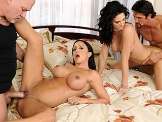 Hawt chicks have a joy sharing their lustful husbands jocks for joy !