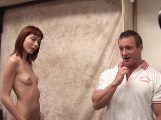 Shapely schoolgirl meeting her 1st big older 10-Pounder