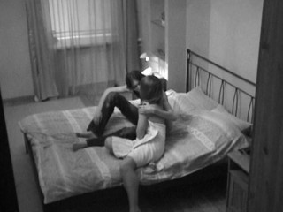 Webcam lens captures a hawt sex in the bedroom with a naughty lady
