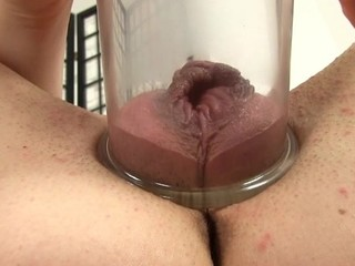 Placing a pump on her pussy creates wild pleasures for playgirl