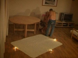 Legal Age Teenager sex scene takes place on the carpet in the center of hall