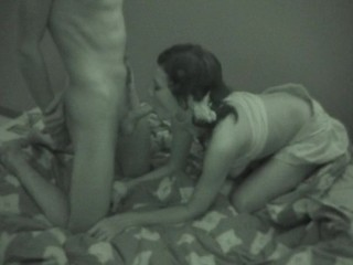 Check out the hawt teen sex scene in a black-and-white quality