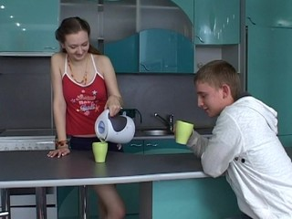 Teen wench is totally pleasured by a vehement and hawt sex scene