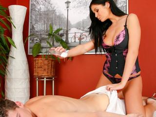 Pleasant Christina Jolie Has Very Fine Massages Techniques!