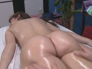 Hot and hot 18 year old receives drilled from behind by her massage therapist