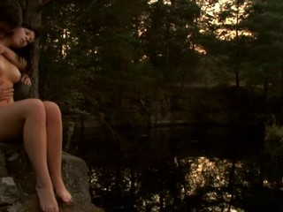 Check out a vehement legal age teenager fucking scene outdoors during sunset