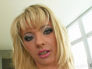 Deepthroating and hard sex are exactly the things that this little golden-haired doxy needed. This Babe gets totally destoryed before swallowing a large load of goo.