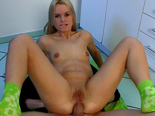 Czech angel Sabrina Golden-haired acquires extraordinary sized wang up in her tight butt