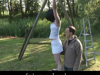 Restrained in ropes by her Slavemaster legal age teenager slavegirl floozy Friend Style is exposed to painful punishment. Waxed and spanked this babe is wide opened for him to pussyfuck her unfathomable whenever this chab desires to
