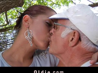 What a desirous old stud wouldn't want to be fucked by engulf a marvelous youthful cutie. Angel Rivas knows how to satisfy the rods and can't live without being gazoo nailed by 'em.  2 old rod for a youthful cute wazoo here