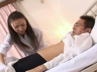 Shinobu Todaka receives felt out by a doctor here letting him mess with her pleasing curly bawdy cleft and then she ends up getting drilled like mad!